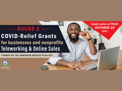 """Harford County Office of Community and Economic Development is accepting applications for Round 2 of the """"Telework & Online Sales Relief Grant Program."""""""