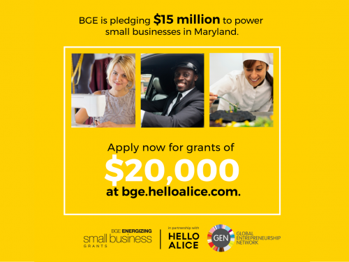 BGE Energizing Small Business Grant - $20K for MD Small Biz