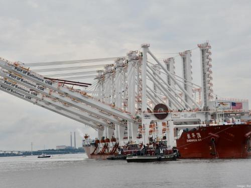 Four New 'Super Cranes' Arrive at The Port of Baltimore